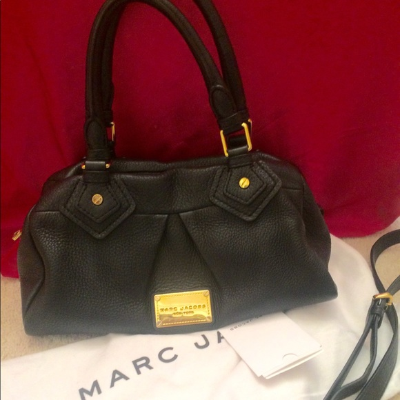 f1ed5818a0ca Marc Jacobs Classic Q Baby Groovee Leather Satchel.  M 5a85dba150687c0ff3112b3a